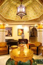 tradition arabic lobby interior of the luxury hotel in casablanca