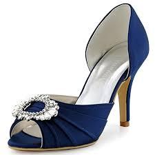 wedding shoes navy elegantpark a2136 women high heel pumps peep toe brooch ruched