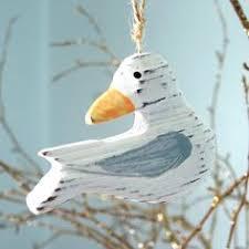 wooden seagull ornament cape cod by cape shore decor