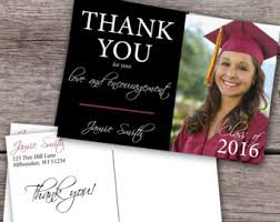 graduation thank you cards graduation thank you etsy