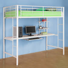 white loft bunk bed with desk trendy practical and stylish