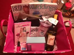 bridal makeup bags engagement basket idea magazines thank you cards makeup