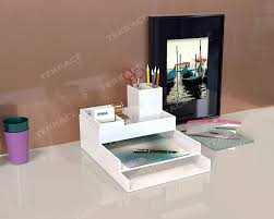 Desk Accessories And Organizers by Furniture Appealing Lucite Desk With Glass Material For Your