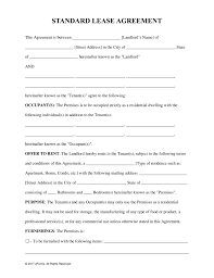 free rental lease agreement templates residential u0026 commercial