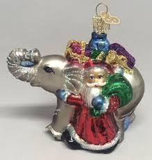 santa with elephant 40130 old world christmas glass ornament decor