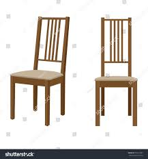 Wooden Chair Wooden Chair Vector Isolated Illustration Stock Vector 579215587