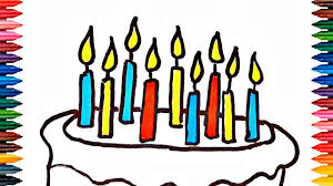 happy birthday cake coloring book fun painting learning colors how
