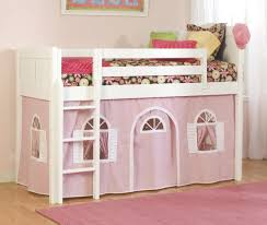 girls low loft bed double camp loft bed do it yourself home projects from ana white