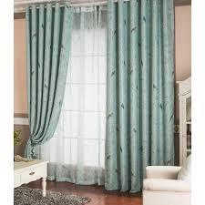 Teal Bird Curtains Blue Bird Room Darkening Curtains