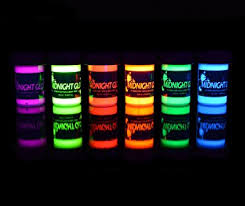 glow paint midnight glo washable non toxic uv backlight reactive