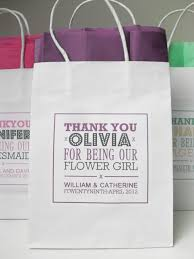 bridal party gift bags large white personalised wedding party gift bag
