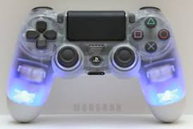 how to change the color of ps4 controller light custom ps4 dualshock 4 crystal controller led clear illuminated 7