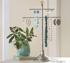 necklace holder stand images Vintage metal jewelry stand pottery barn jpg