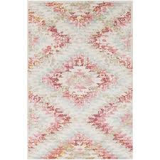 Pink And White Rug Sanaz Rug Blush Rug Features Contemporary And Room
