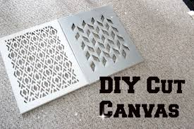 Canvas Home Decor Diy Home Decor Cut Canvas Tutorial Youtube