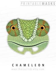 printable mask halloween costume chameleon lizard mask printable