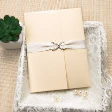 wedding invitations with ribbon photo rhinestone satin ribbon pocket wedding invitations ewpi180