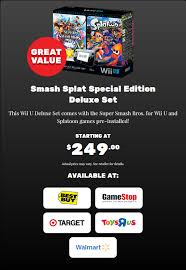 nintendo wii u black friday koopatv black friday get the splatoon super smash bros wii u bundle