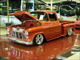 1956 chevy love the orange paint job vintage style cars