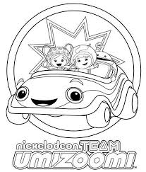 nickelodeon team umizoomi coloring color luna