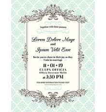 wedding invitations borders vintage wedding invitation border and frame vector image