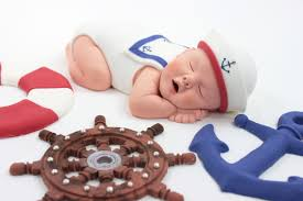 nautical sailor baby sugar paste cake topper for red white u0026