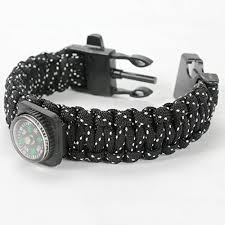 survival bracelet with whistle images Paracord survival bracelet with fire starter compass outdoor jpg
