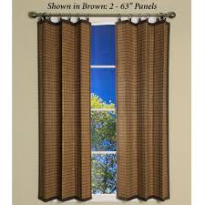 curtains home decor bamboo ring top curtain panels