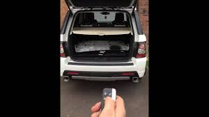 range rover sport tailgate auto close youtube