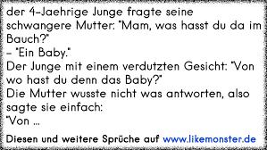 sprüche baby im bauch der 4 jährige junge fragte seine schwangere mutter was