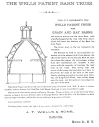 Barn Truss Wells Barn History Design U0026 Construction