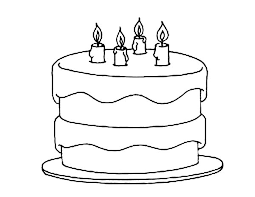 birthday cake coloring pages netart