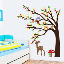 cartoon cute animal deer owl tree mushroom diy wall sticke cartoon cute animal deer owl tree mushroom diy wall sticke wallpaper stickers art decor mural kid s child room decal sticker h11571