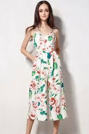 top jumpsuit floral print wide leg cami top jumpsuit oasap com