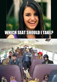 Take A Seat Meme - which seat should i take rebecca black meme quickmeme