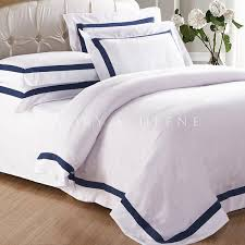 Luxury White Bed Linen - white quilt cover with blue trim ivory u0026 deene u2013 ivory u0026 deene