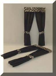 Leopard Curtains Dollhouse Drapes Curtains And Window Treatments