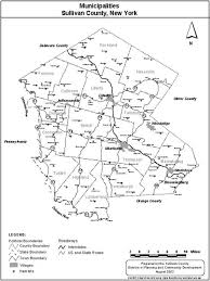 County Map New York by Sullivan County New York Area Maps