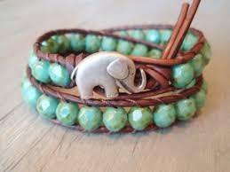 beaded bracelet leather images Jewels bracelets elephant beaded boho leather beaded jpg