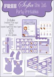sofia the birthday party ideas sofia the free printable party set