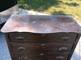 3 Vintage Furniture Makeovers For by Rustic Stenciled Antique Dresser Makeover In The Garage