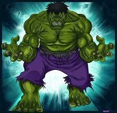 draw hulk step step marvel characters draw marvel