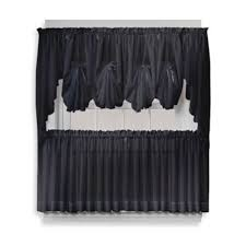 Black Curtains With Valance Buy Black Sheer Curtains From Bed Bath U0026 Beyond