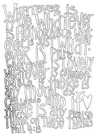 think on these things u2026 philippians 4 8 coloring page u2013 from