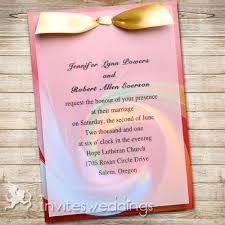 layered wedding invitations festival golden ribbon layered wedding invites iwfc039
