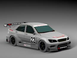 altezza car race car toyota altezza 3d asset cgtrader