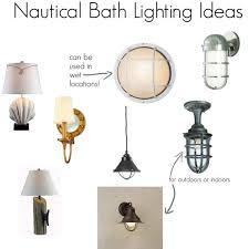 Alluring Nautical Bathroom Light Fixtures Themed With Lights Nautical Bathroom Lighting Fixtures