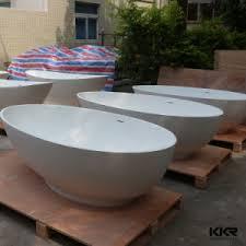 Round Bathtub China Kkr Resin Stone Round Bathtub Free Standing Oval Bath Tub