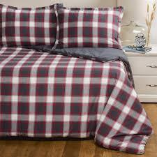 Plaid Bedding Set Pendleton Carlton Brushed Flannel Plaid Comforter Set Twin