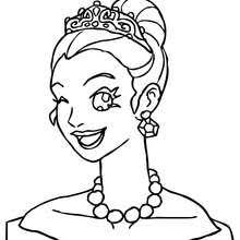 princess head curly bun coloring pages hellokids